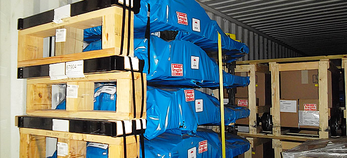 logistic operations - secured cargo for optimal use of container space