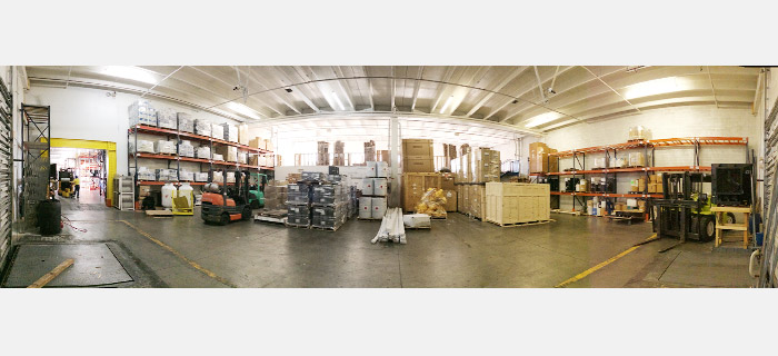 logistic operations - panoramic view of warehouse – oversize loads area